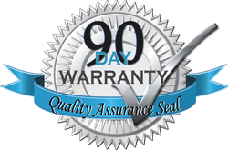 90-day warranty quality assurance seal